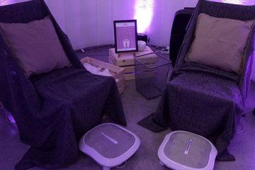 Massage shiatsu des pieds en entreprise